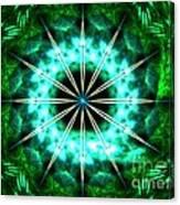 Green Compass Canvas Print