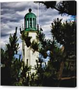 Green Copper Lantern Room On Scituate Lighthouse Canvas Print