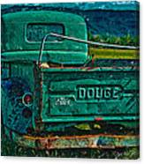 Green Dodge Canvas Print