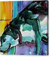 Green Dog Canvas Print