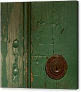 Green Door   #4377 Canvas Print
