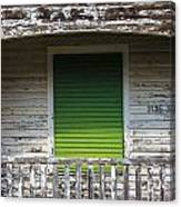 Green Door Galveston Tx  Canvas Print