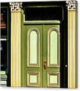 Green Door Canvas Print