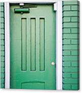 Green Door San Francisco Canvas Print