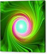 Green Energy-spiral Canvas Print