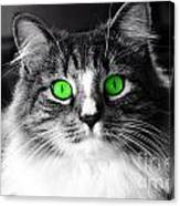 Green Eyed Elvis Canvas Print