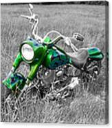 Green Fat Boy Canvas Print
