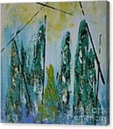 Green Figures Canvas Print