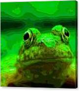 Green Frog Poster Canvas Print