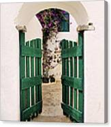 Green Gate Canvas Print