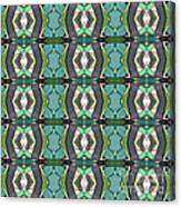 Green Geometric Abstract Pattern Canvas Print