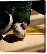 Green Glass And Garlic Canvas Print
