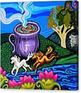 Green Goddess Coffee Canvas Print