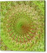 Green Grass Swirled Canvas Print