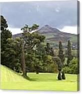 Green Green Garden And Mountain Canvas Print