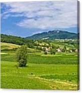Green Hills Nature Panoramic View Canvas Print