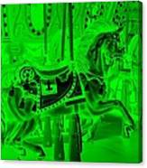 Green Horse Canvas Print