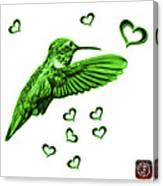Green Hummingbird - 2055 F S M Canvas Print
