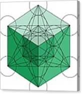 Green Hypercube Canvas Print