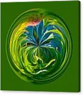 Green Leaf Orb Canvas Print