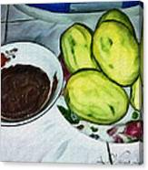 Green Mangoes Canvas Print