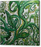 Green Meditation Canvas Print