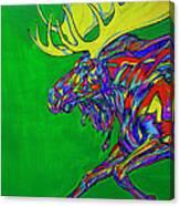 Green Mega Moose Canvas Print