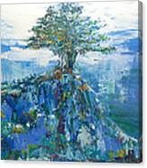 Green Mountain Tree Canvas Print