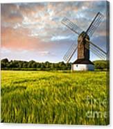 Green Ocean ''pitstone Windmill'' Canvas Print