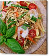 Green Papaya Salad With Shrimp Canvas Print