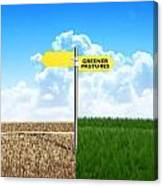 Green Pastures Sign Canvas Print