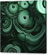 Green Patterns Of Malachite Canvas Print