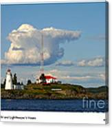 Green Point And Keepers Cottage Canvas Print