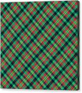 Green Red And Black Diagonal Plaid Textile Background Canvas Print