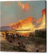Green River Cliffs Wyoming Canvas Print