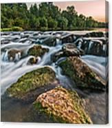 Green Rocks Canvas Print