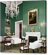 Green Room In The White House Canvas Print