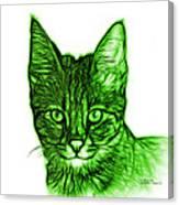Green Savannah Cat - 5462 F S Canvas Print