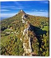 Green Scenery Of Kalnik Mountain Ridge Canvas Print