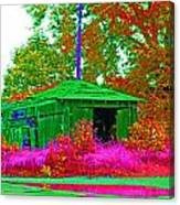 Green Shack Day Canvas Print