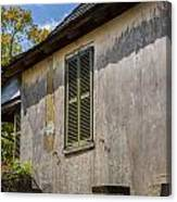 Green Shutters Stucco Walls St Augustine Canvas Print