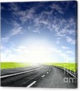 Green Sky Road Canvas Print