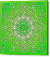 Green Space Flower Canvas Print