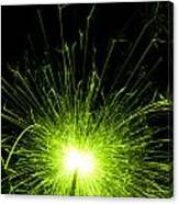 Green Sparkle Canvas Print