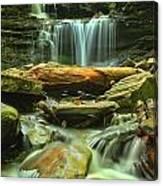 Green Spring Cascades Canvas Print