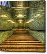 Green Stairs Canvas Print