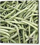 Green String Beans Display Canvas Print