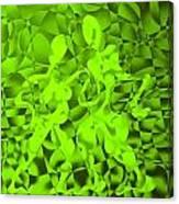 Green Tango Rhythms Canvas Print