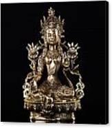 Green Tara Buddhist Goddess Statue Canvas Print