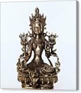 Green Tara Goddess Statue Canvas Print